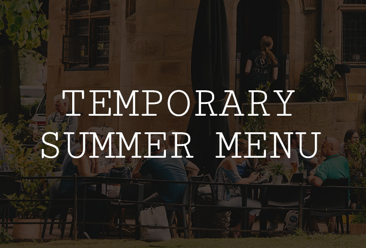 Temporary Summer Menu